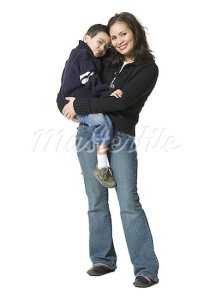 640-01351420 Model Release: Yes Property Release: No Portrait of a mother carrying her son